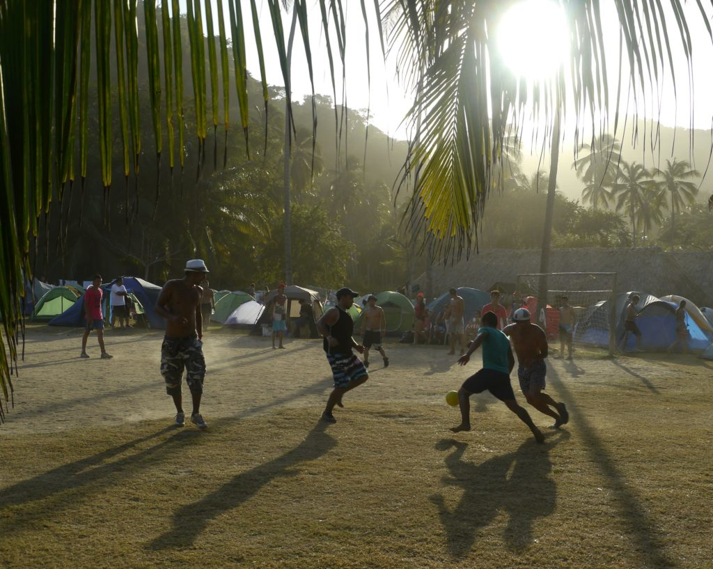 Soccer on the beach, Colombia